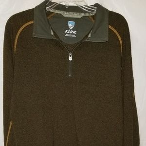KUHL - MEN'S LARGE - BROWN 1/4 ZIP PULL OVER